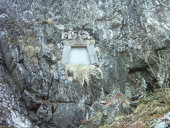 Tomb of Edvard Grieg near Troldhaugen in Norway.