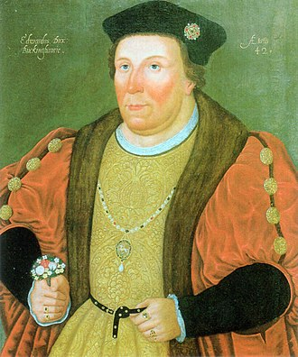 Edward Stafford, 3rd Duke of Buckingham - Portrait of Edward Stafford, 3rd Duke of Buckingham, by an unknown artist, 1520, at Magdalene College, Cambridge