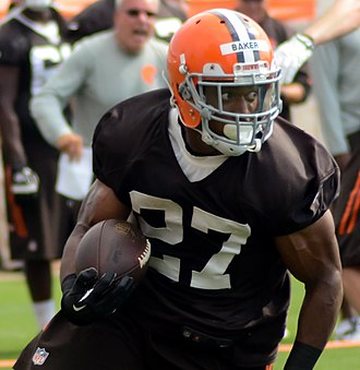Edwin Baker (American football) - Baker at Browns training camp in 2014