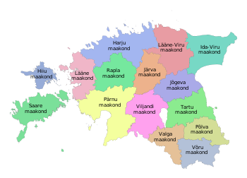 Counties of Estonia
