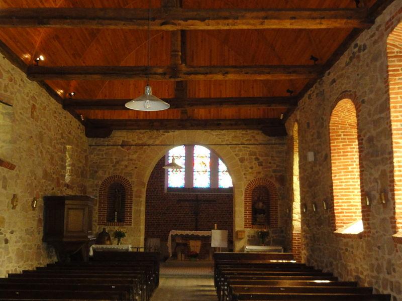 Effry (Aisne) église, intérieur