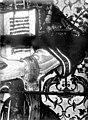 Eglise Saint-Martin - Vitrail, baie 3 (détail), Bras gauche de saint Etienne tenant le livre des Evangiles - Montmorency - Médiathèque de l'architecture et du patrimoine - APMH00005387.jpg