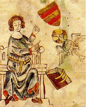Eike of Repgow - Depiction in the Oldenburg Sachsenspiegel (14th century)