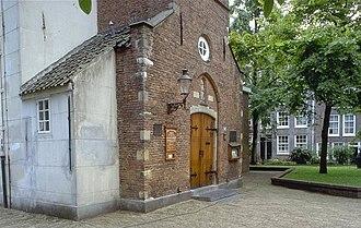 Begijnhof Chapel, Amsterdam - Original chapel door (now entrance to the English Reformed Church, Amsterdam)