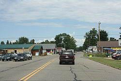 Looking north at downtown Elcho