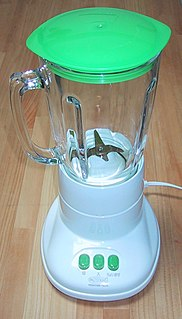 Blender Home appliance used to mix or crush food