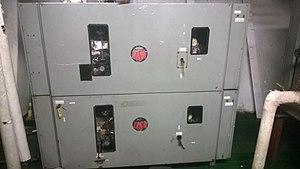 Electric steam boiler - Electric Steam Boiler on the Training Ship Golden Bear