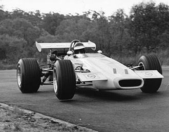 Australian Formula 2 - 1971 Championship winner Henk Woelders (Elfin 600 Waggott)