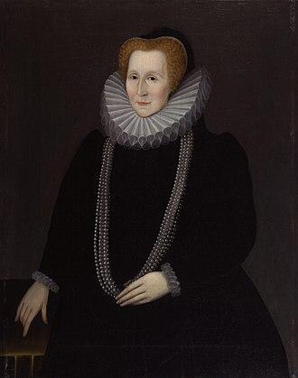 Bess of Hardwick - Bess of Hardwick, Countess of Shrewsbury, by Rowland Lockey, 1592