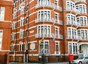 Embassy of Ecuador, London - Image: Embassy of Ecuador, London (2016) 09