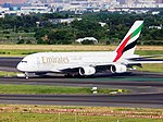 Emirate A380 A6-EEE at TPE (28166863350).jpg