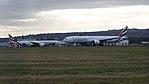 Emirates 777s at Glasgow Airport.jpg