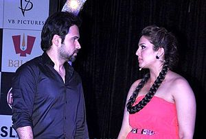 Ek Thi Daayan - Hasmi and Qureshi during the promotions of the film.