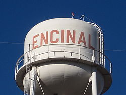 Encinal water tower