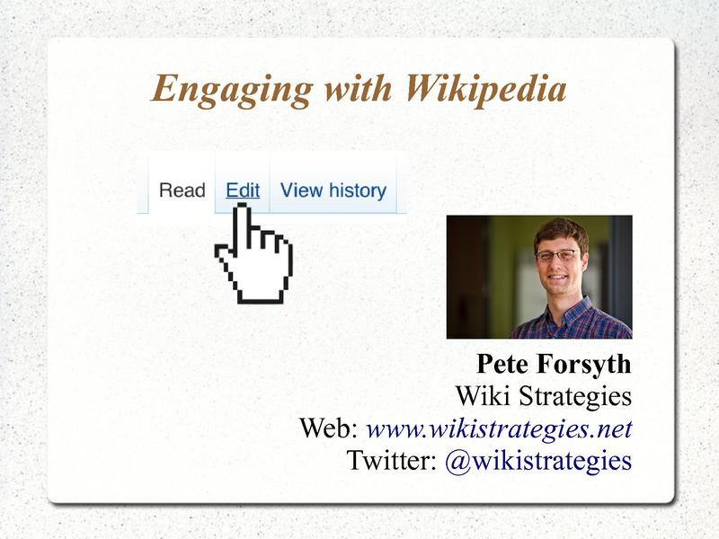 File:Engaging with Wikipedia presentation for Swiss universities.pdf