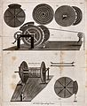 Engineering; four kinds of crane. Engraving. Wellcome V0024552.jpg