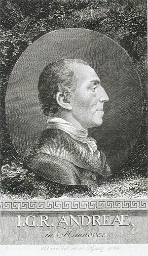 Johann Gerhard Reinhard Andreae - Engraving of J.G.R. Andreae
