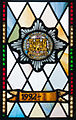 Enniskillen Cathedral of St. Macartin North Aisle Royal Inniskilling Dragoons Window Detail Insigna 1992 2012 09 17.jpg