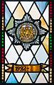 Enniskillen Cathedral of St. Macartin North Aisle Royal Inniskilling Dragoons Window Detail Insigna 1992 2012 09 17.jpg