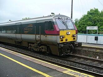 Newry railway station - Image: Enterprise train Newry