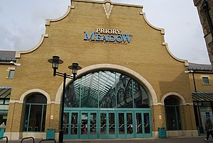 Priory Meadow Shopping Centre - Image: Entrance to Kings Walk, Priory Meadow Shopping Centre, Hastings geograph.org.uk 1197474