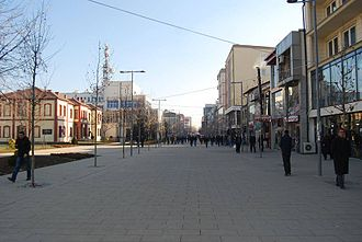 Culture in Ferizaj - Pedestrian walk in Ferizaj
