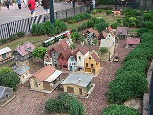 Germany Pavilion at Epcot - Miniature village and railway