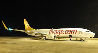 Pegasus Airlines Flight 8622 - The aircraft involved; TC-CPF in 2016