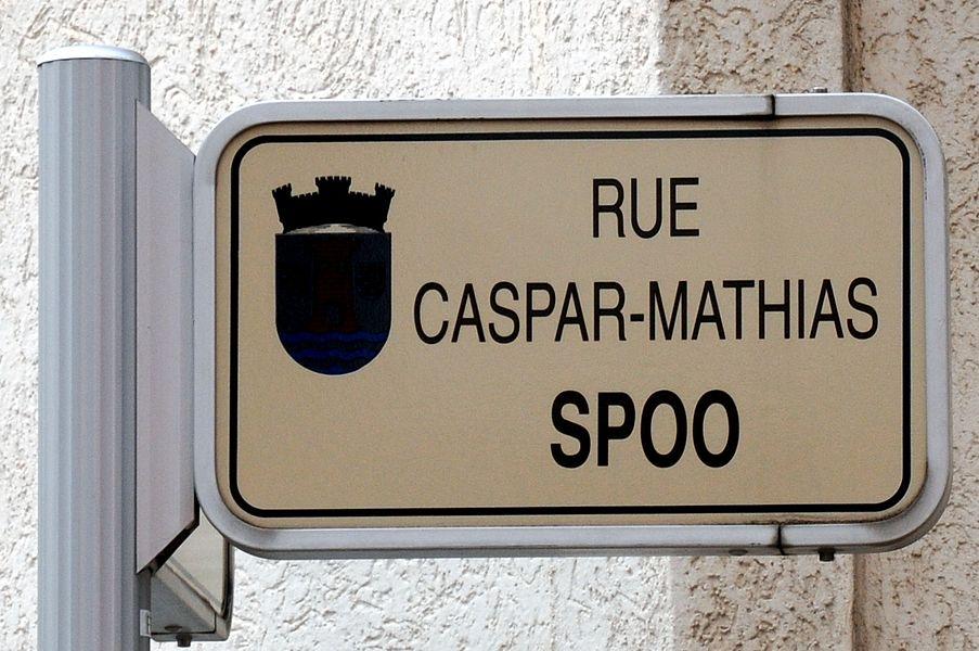 D'Schëld rue Caspar-Mathias Spoo zu Esch.