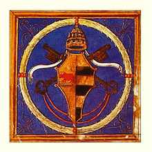 The picture the papal arms of Alexander VI.