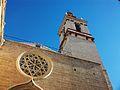 Església de Sant Nicolau de València, rosassa i campanar.JPG