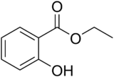 Structural formula of ethyl salicylate