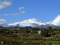 Mount Etna seen from Tremestieri.