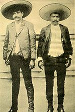 Emiliano Zapata (right) and his brother Cesar Augusto Zapata
