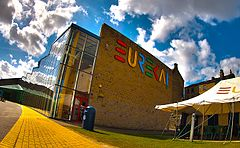 The exterior of Eureka! The National Children's Museum in Halifax, West Yorkshire, United Kingdom