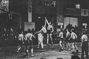 Estonia men's national basketball team - Game between Estonia and Lithuania at the EuroBasket 1937.