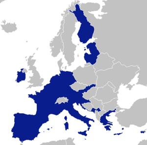 United States of Europe - Image: Eurozone single entity