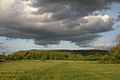 Evening light on Hambledon Hill 20070507.jpg