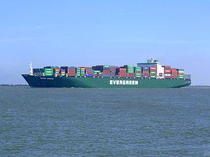 Ever Unific p2, leaving Port of Rotterdam, Holland 08-Apr-2007.jpg