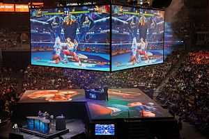 Evo 2016 - Street Fighter V being played at the Mandalay Bay Events Center