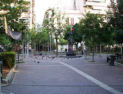 The central square in 2007