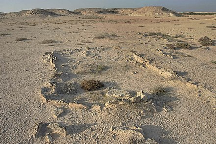 Excavation of a Kassite dye site on Al Khor Island Excavated site on Al Khor Island.jpg