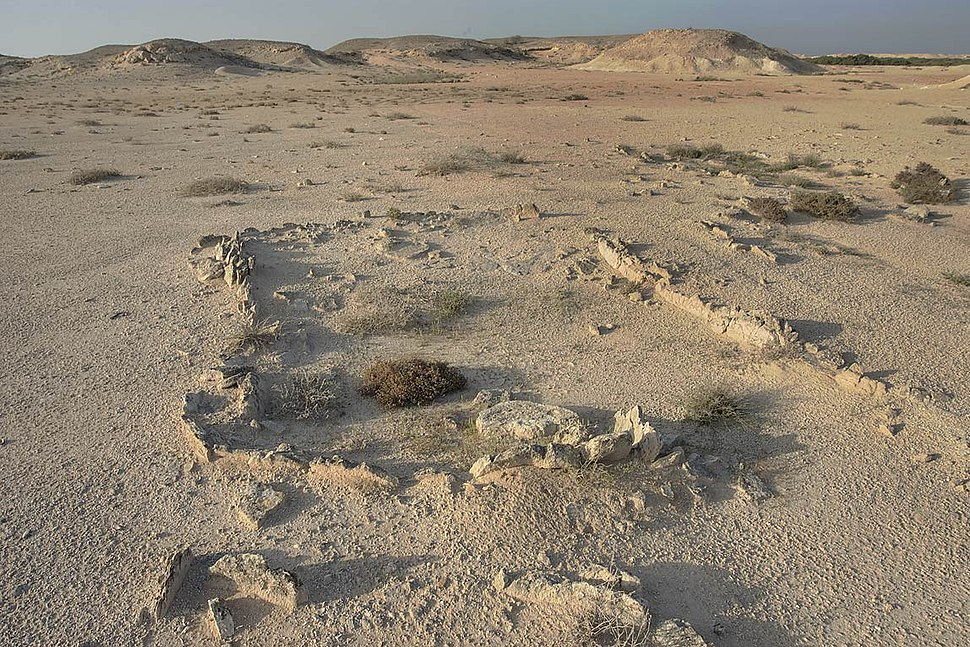 Excavated site on Al Khor Island
