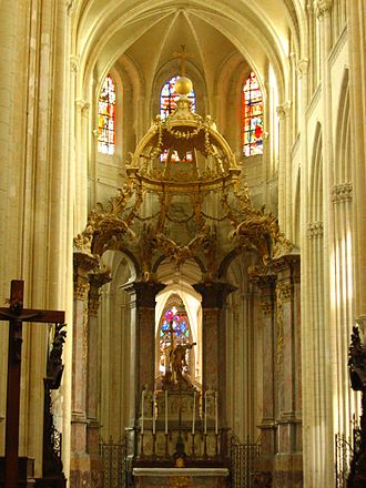 Fécamp Abbey - The chancel of the church at Fécamp Abbey.