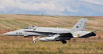 Torrejón Air Base - A Spanish Air Force EF-18A Hornet at Torrejón