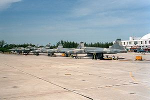 VF-45 (1963-96) - VF-45 TA-4Js and F-5Ns at NAS Key West in 1993