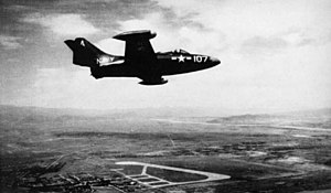 F9F-2 VF-721 over Yonpo air base 1951.jpg