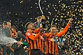 FC Shakhtar footballers celebrate victory (35609139936).jpg