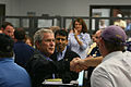 FEMA - 37943 - President Bush at Louisiana EOC.jpg
