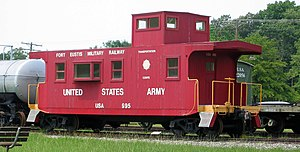 Fort Eustis Military Railroad - Caboose 995 at the Transportation Museum.